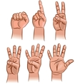 Numbers on the fingers vector image