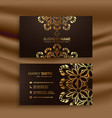 premium luxury business card design with golden vector image