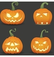 Pumpkin set vector image