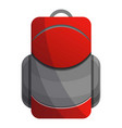 red grey backpack icon cartoon style vector image
