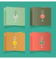 set of simple glasses for alcoholic drinks vector image