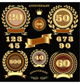 set retro signs for anniversary vector image vector image