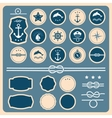 set sea and nautical labels badges vector image vector image