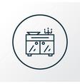 sideboard icon line symbol premium quality vector image
