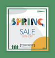 spring geometric lettering banner green vector image vector image