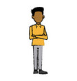 standing man character male cartoon pose image vector image