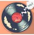 Stay Alive Message On The Vinyl Record Label vector image vector image