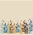 stylized wheat - vintage vector image