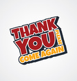 thank you sign vector image vector image
