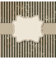 Vintage background with frame vector image vector image