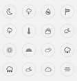 weather icons line style set with thunderstorm vector image