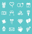 wedding icons3 resize vector image vector image