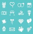 wedding icons3 resize vector image