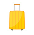 yellow wheeled travel bag with luggage vector image vector image