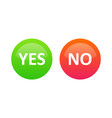 yes or no selection buttons for voting on the vector image