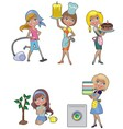five housewives vector image