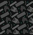 memphis style pattern retro dark background vector image
