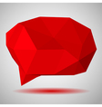 Low polygonal speech bubble vector image