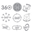 360 degrees view sign icon on the white background vector image vector image