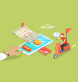 3d isometric flat concept restaurant and vector image vector image