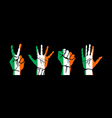 A set of hands with different gestures wrapped in vector image vector image