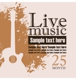 acoustic guitar on grungy color background vector image