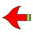 arrows marker vector image vector image