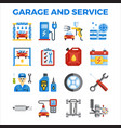 automotive garage and service flat icon vector image vector image