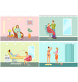 barber shop for men beards and tanning vector image vector image