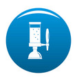 beer tap icon blue vector image vector image