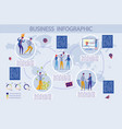 business infographic set with people characters vector image