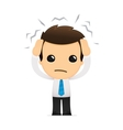 cartoon office worker vector image vector image