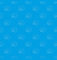 cheese pattern seamless blue vector image
