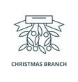 christmas branch line icon christmas vector image vector image
