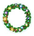 Christmas Wreath balls isolated white background vector image vector image