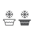 cold water line and glyph icon temperature and vector image vector image