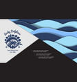 colorful nautical bright composition vector image vector image