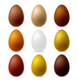 colorful realistic eggs vector image