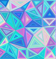 Colorful triangle tile mosaic background vector image vector image