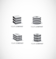 Company logo icon set element black and white vector image vector image