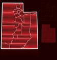 counties utah vector image