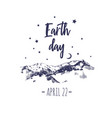 earth day poster typographic 2 vector image vector image