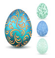 easter egg 3d icons ornate color eggs set vector image vector image