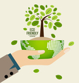 ECO FRIENDLY Ecology concept with Green Eco Earth vector image vector image