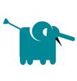 elephant simple art geometric vector image vector image