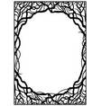 frame of branches vector image vector image