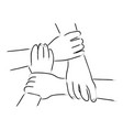 hand gesturing unity vector image vector image