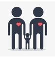 happy gay boy family icon vector image vector image