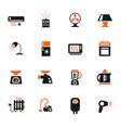 home appliances icon set vector image vector image