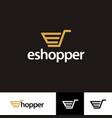 icon symbols e shopper online logo template vector image